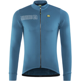Alé Cycling Solid Color Block Fietsshirt lange mouwen Heren blauw